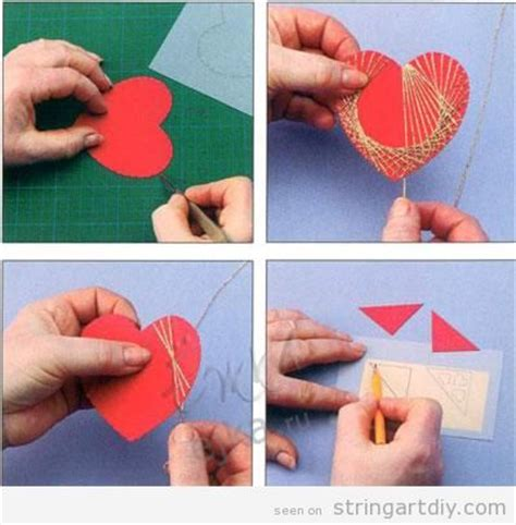how to make a shaped card step by step string diy learn to make your own