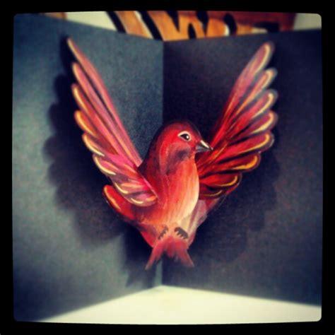 pop up bird card template bird 171 robyn skillman