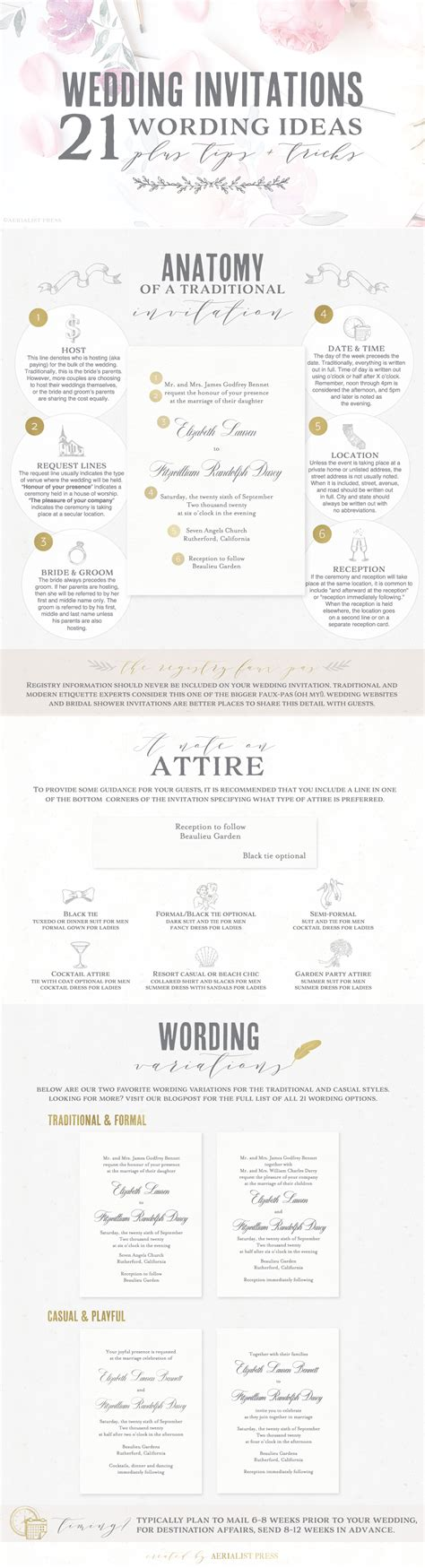 Wedding Invitations Wording In by 21 Best Wedding Invitation Wording Ideas Aerialist Press