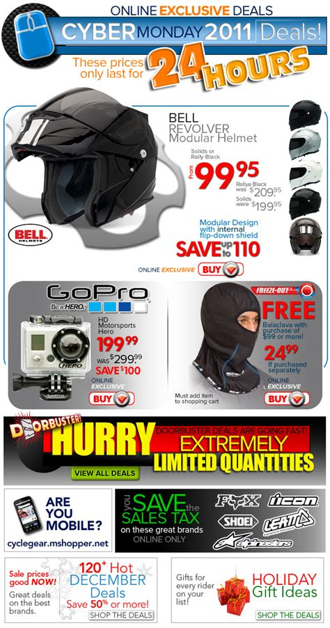 cyber monday motocross gear cyber monday 2011 at cycle gear sportbikes net