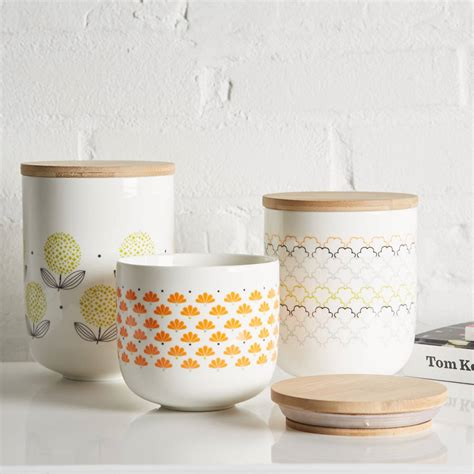 retro scandinavian ceramic canisters by uniquely eclectic