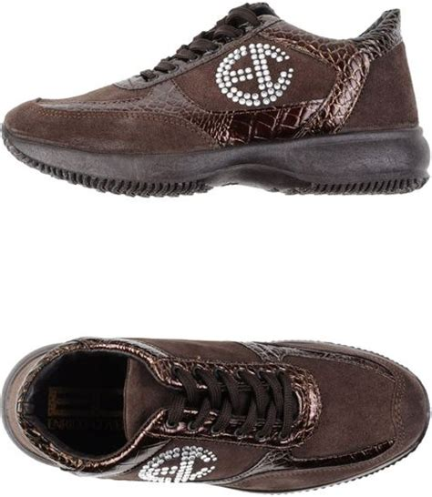 Enrico Shoes Brown S Baldo enrico coveri low tops trainers in brown brown