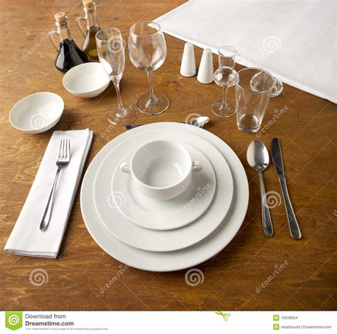 table set up table set up stock images image 15038054
