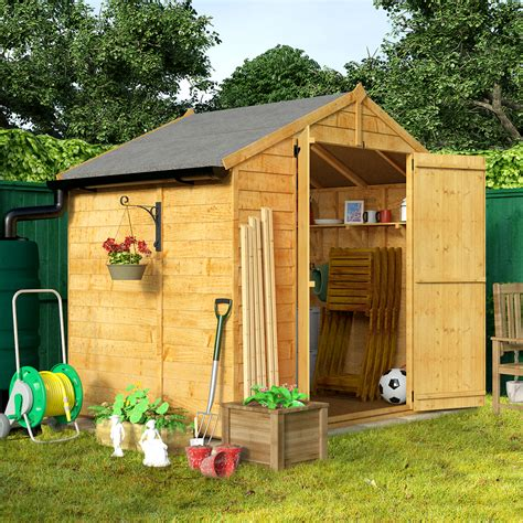 billyoh 5 x 7 windowless economy overlap apex garden shed