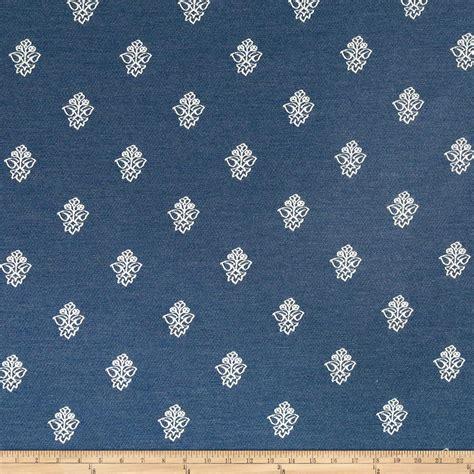 designer fabric sunbrella canvas floral indigo discount designer fabric