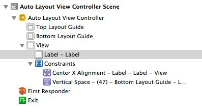 auto layout constraints xcode working with ios 7 auto layout constraints in interface