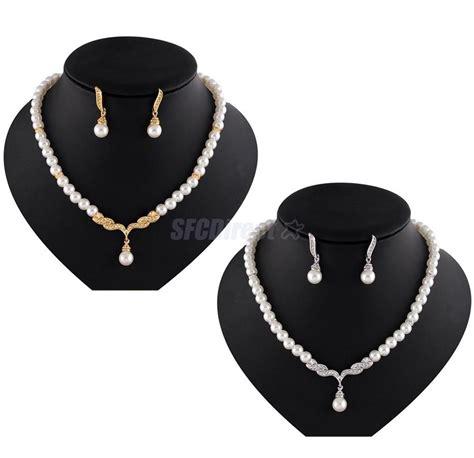 rhinestone for jewelry wedding bridal pearl rhinestone necklace