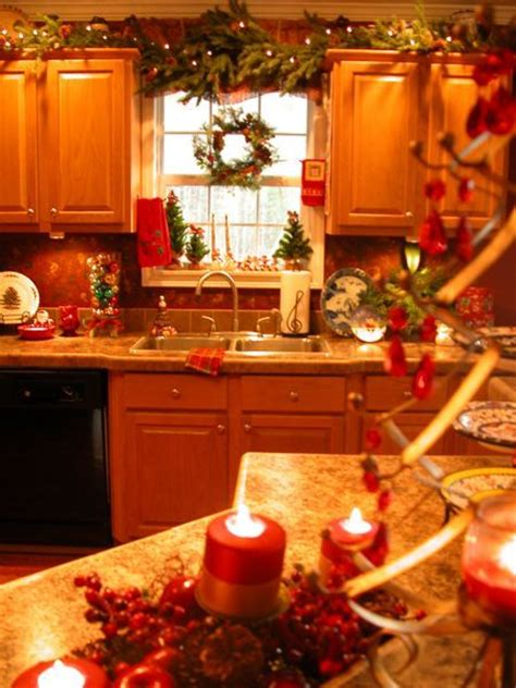 christmas decorating ideas for the kitchen who says holiday decorating is only for the living room
