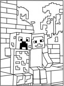 minecraft creeper coloring page the world s catalog of ideas