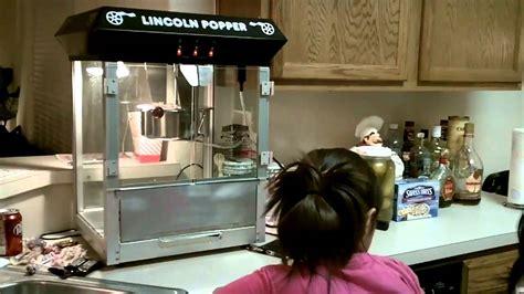 theatre popcorn machine youtube