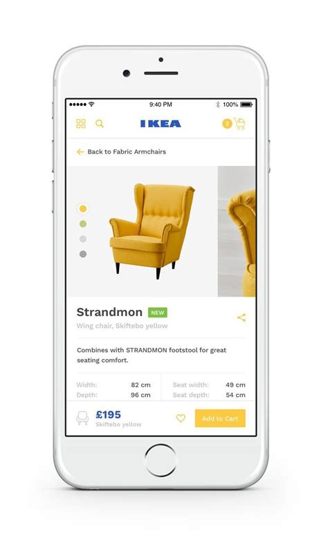 Ikea Ios App Product Redesign By Ollie Barker Dribbble | more modern ui ux designs from up north