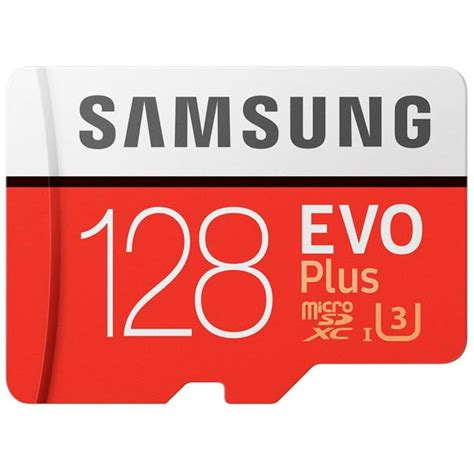 samsung microsdxc evo plus class 10 uhs 1 100mb s 128gb with sd adapter mb mc128ga