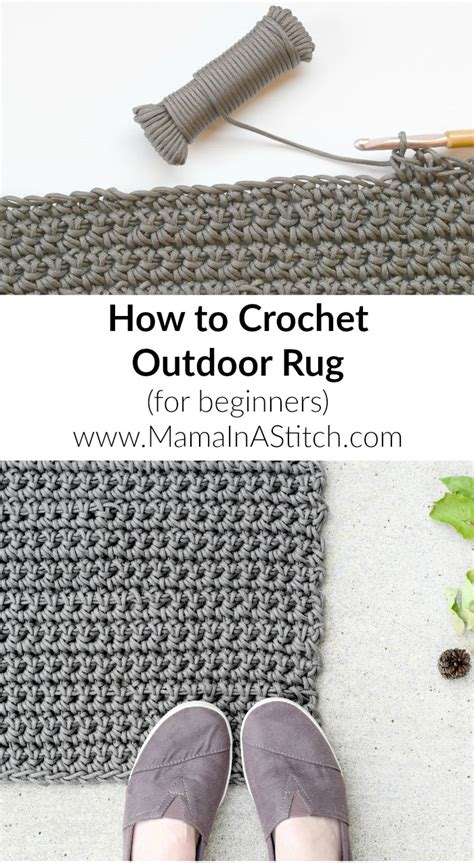 how to crochet rug how to crochet an outdoor rug for beginners in a