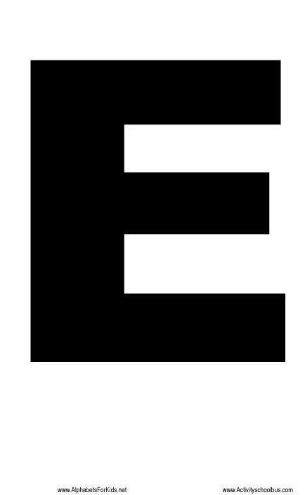 printable alphabet letter e large letter printable e http alphabetsforkids net 221