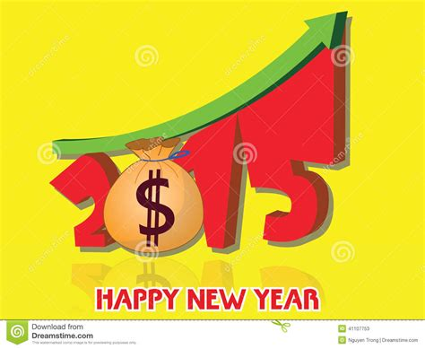new year money called money growth of 2015 happy new year 2015 stock image