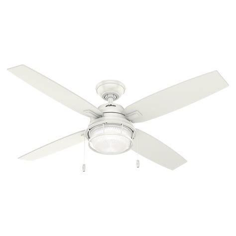 hunter oakhurst white ceiling fan hunter oakhurst 52 in indoor low profile white ceiling