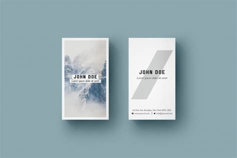 Vertical business card mock up PSD file   Free Download
