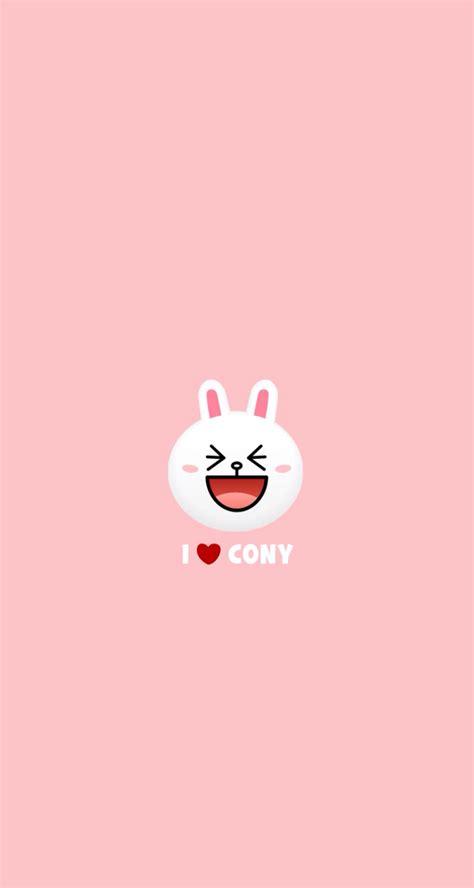 wallpaper chat line iphone i heart cony rabbit bunny iphone wallpaper iphone
