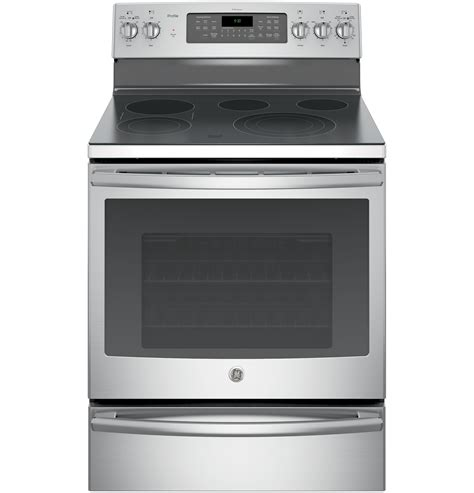 Electric Range With Warming Drawer by Ge Profile Pb930sjss 30 Quot Electric Convection Range W