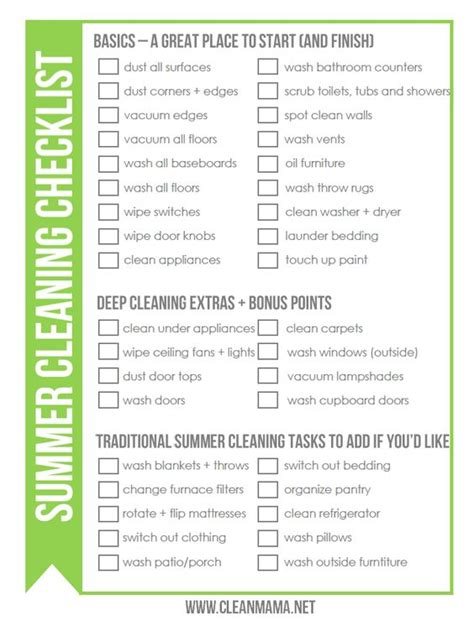 Actually Late Summer Cleaning by Free Summer Cleaning Checklist Summer And Late