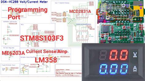 dsn vc dual digital voltmeter circuit schematic ammeter