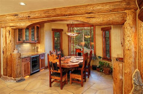 Small Cabins With Loft Floor Plans hybrid log house traditional dining room vancouver