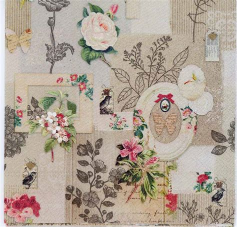 decoupage paper vintage decoupage paper of vintage roses birds and butterflies