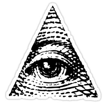 triangolo degli illuminati quot all seeing eye black version quot stickers by electrosterone