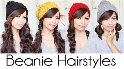 Hairstyles For Hats At Work by Easy Hairstyles For Beanies Hats