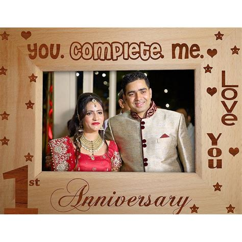1st wedding anniversary photo frame 1st anniversary gift wooden photo frame