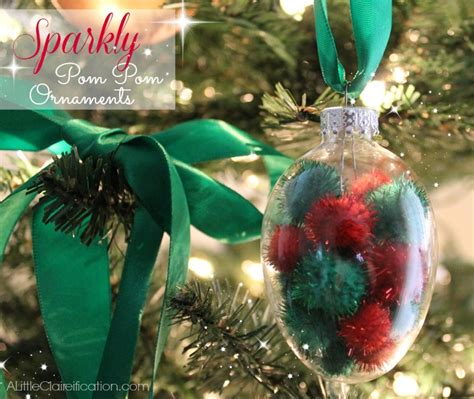 family dollar christmas ornaments diy sparkly pom pom ornaments dollar tree crafts a claireification