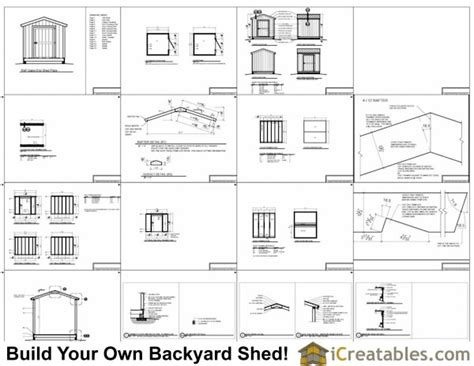 8x10 Storage Shed Plans by 8x10 Shed Plans Storage Shed Build A Shed