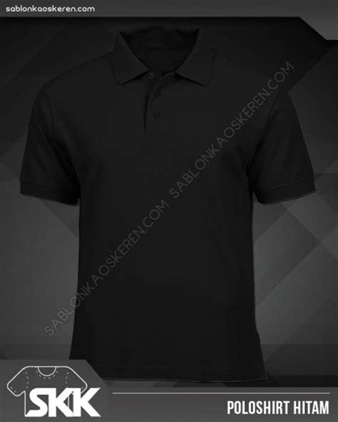 Kaos Polos Model Polo Shirt Hitam warna kaos polos dan pilihan model kaos polos tanpa merek