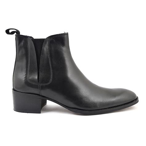 buy black cuban heel boots gucinari