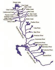 map of rivers in california text