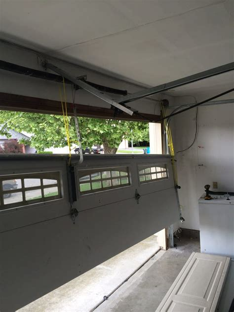 Notice Store Bought Opener With Sectional Rail Severely A1 Overhead Door