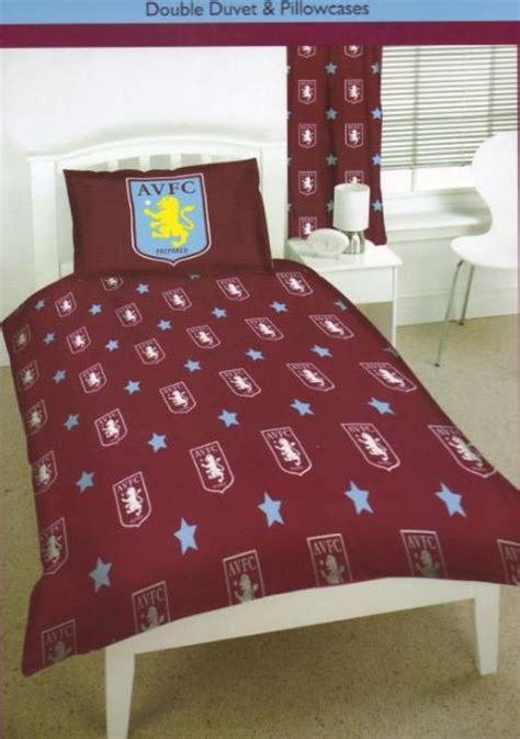 villa bedding aston villa football bedding double size duvet cover set