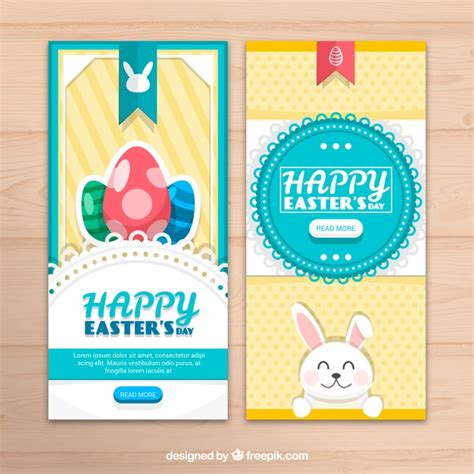 pretty easter eggs pretty easter egg banners vector free