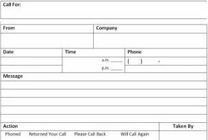 template for phone messages phone call message memo template excel about