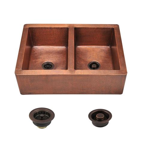 Mr Direct Kitchen Sinks Reviews Mr Direct All In One Farmhouse Apron Front Copper 35 In Bowl Kitchen Sink 912 Stfl The