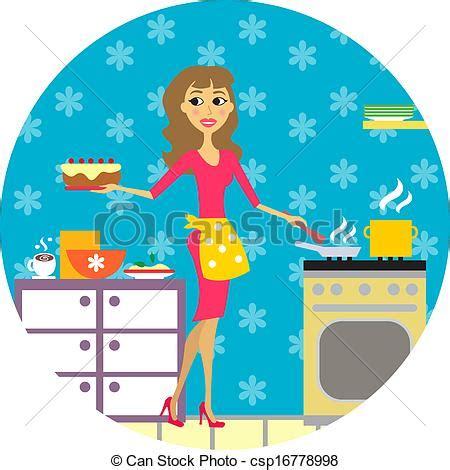 cuochi in cucina cuochi donna cucina cucina illustrazione vettore