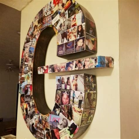 Wooden Letter Photo Collage Diy