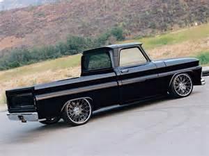1963 chevy c10 black nitto tires truckin magazine