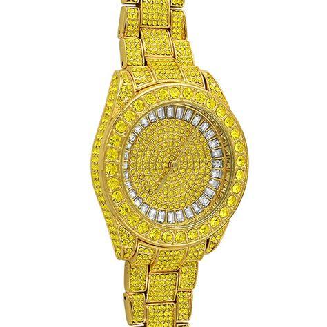 bling bling canary custom 41mm gold bling bling