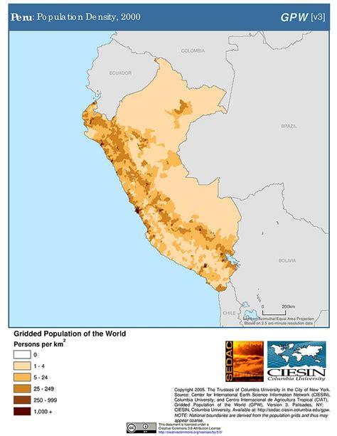 south america density map map gallery sedac