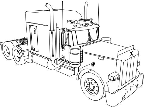 peterbilt semi truck coloring pages sketch coloring page peterbilt truck coloring pages sketch coloring page