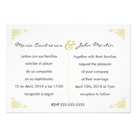 spanish wedding invitation wording theruntime com