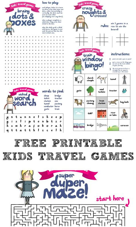 printable road trip games for preschoolers printable travel games for kids in the playroom