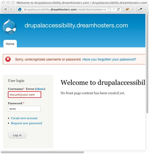 error validation pattern login form error design wiki drupal groups