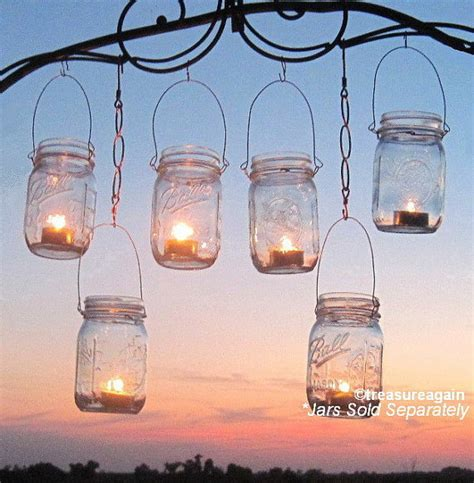 12 hanging garden light diy mason jar lantern hangers
